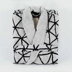 Halat  Black&White baie cu eșarfă - Colecție nouă
