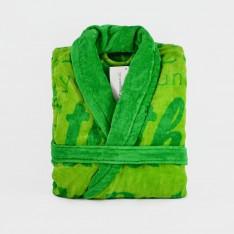 Халат Янг Шал Яка - Зелен