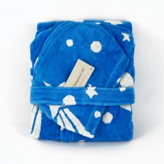 Kids Robe Little Micro Star Blue