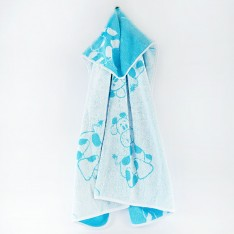 Kids Cape Giraffe Blue - 2-3 years old