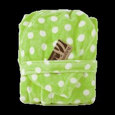 Детски халат Точки Зелен
