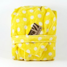 Детски халат Точки Жълт