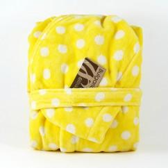 Kids bathrobe Spot Yellow