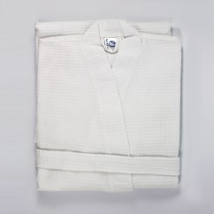 Μπουρνούζι Βάφελ Λευκό