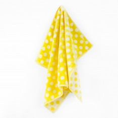 Children's towel Dots in yellow