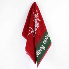 Хавлиена кърпа Коледа - червен