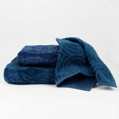 Set bath towels - blue
