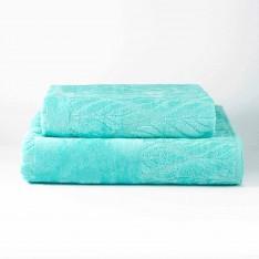 Хавлиена кърпа LEAF - Светъл тюркоаз