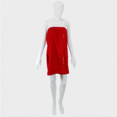 Lady`s towel tunik - red